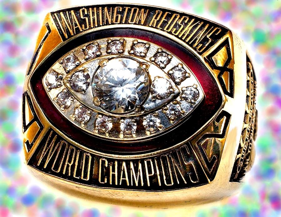 1982 Redskins Super Bowl Ring Photograph  - 1982 Redskins Super Bowl Ring Fine Art Print