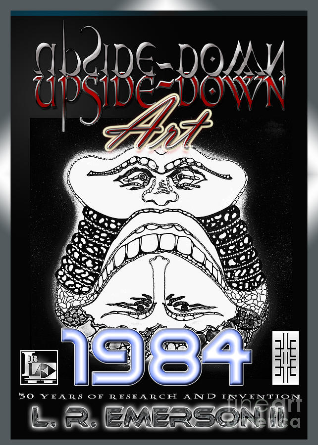 1984 Commemorative Poster From L R Emerson II Lead Upside Down Artist Mixed Media