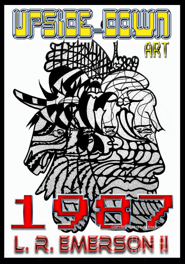 1987 Upside-down Art By Masg Artist L R Emerson II Drawing