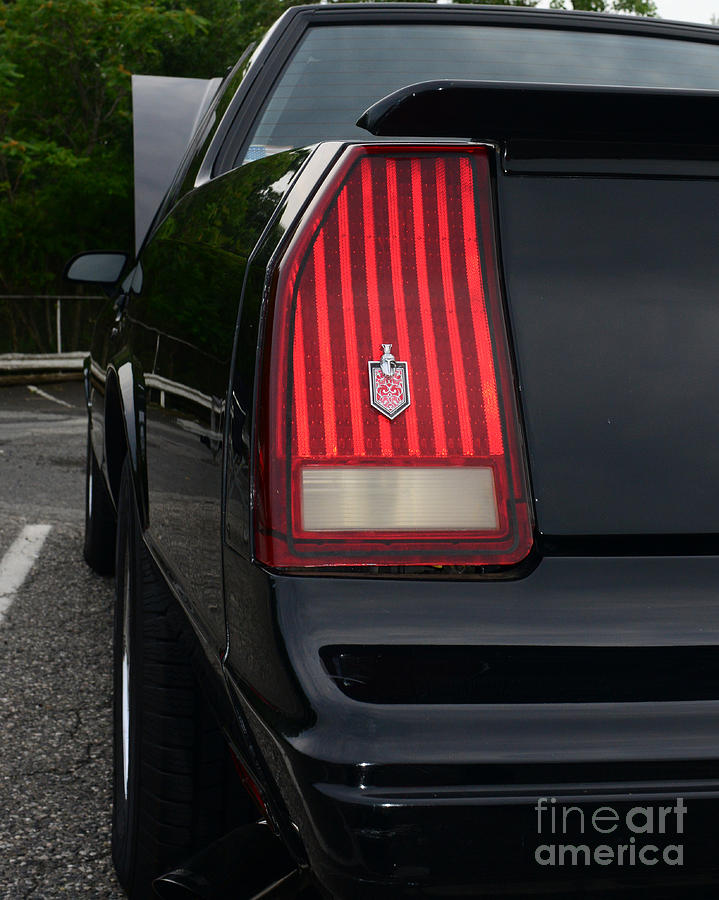 1988 Monte Carlo Ss Tail Light Photograph  - 1988 Monte Carlo Ss Tail Light Fine Art Print
