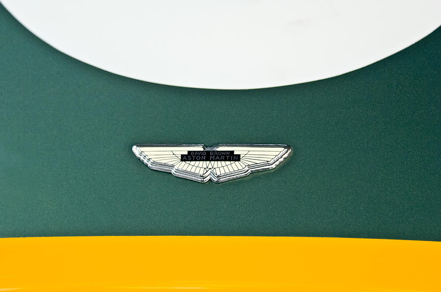1993 Aston Martin Dbr2 Recreation Emblem Photograph - 1993 Aston Martin Dbr2 Recreation Hood Emblem by Jill Reger