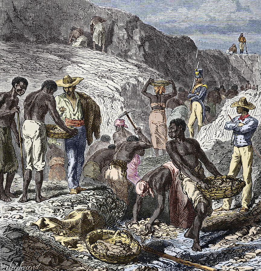 19th-century Diamond Mining, Brazil Photograph