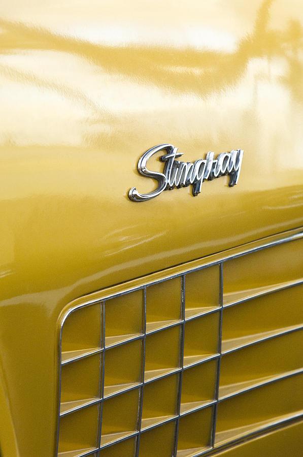 1972 Chevrolet Corvette Stingray Emblem Photograph