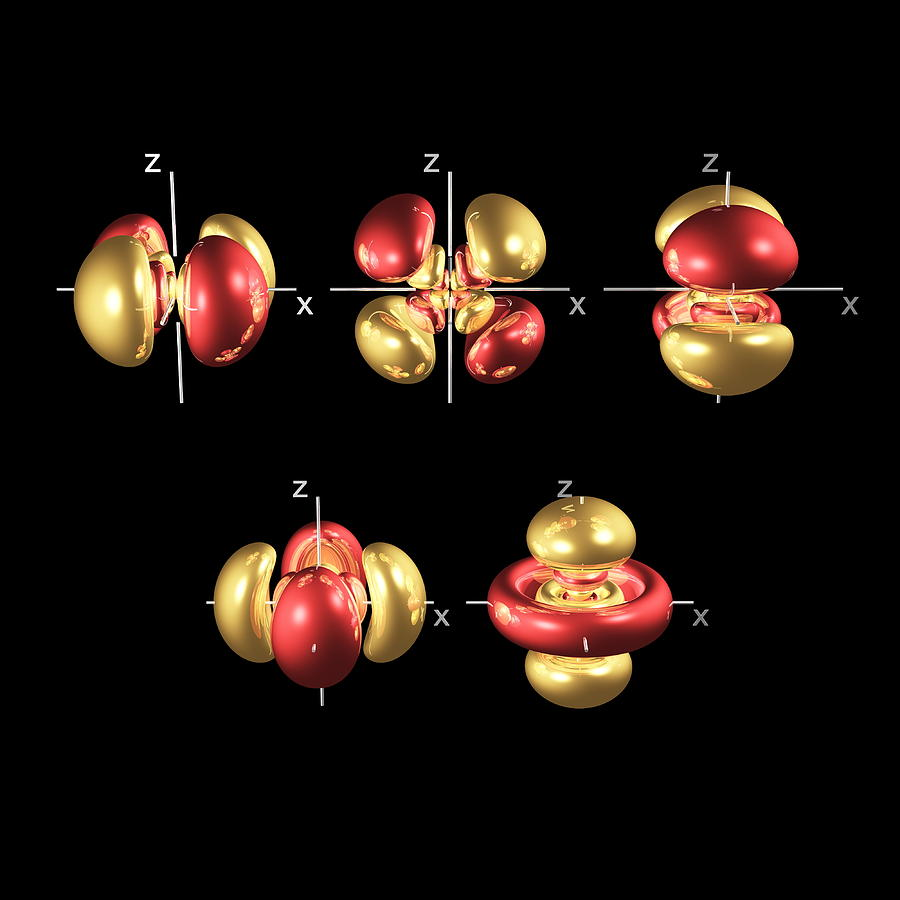 5d Photograph - 5d Electron Orbitals by Dr Mark J. Winter
