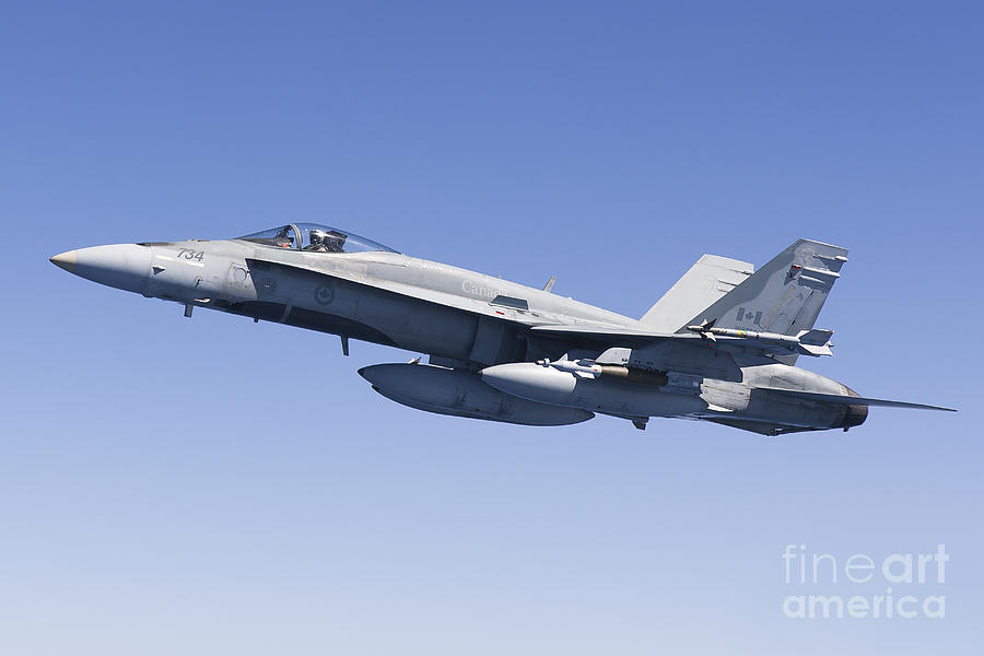A Cf-188a Hornet Of The Royal Canadian Photograph