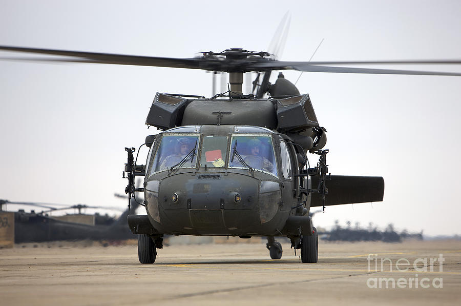 A Uh-60 Black Hawk Taxis Photograph