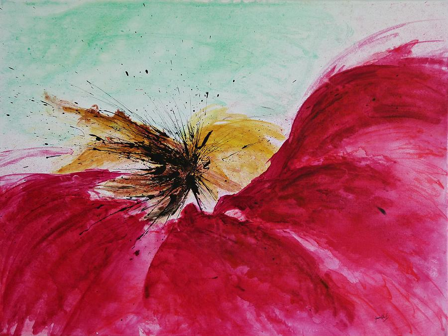 Abstract Art Painting - Abstract Flower  by Ismeta Gruenwald