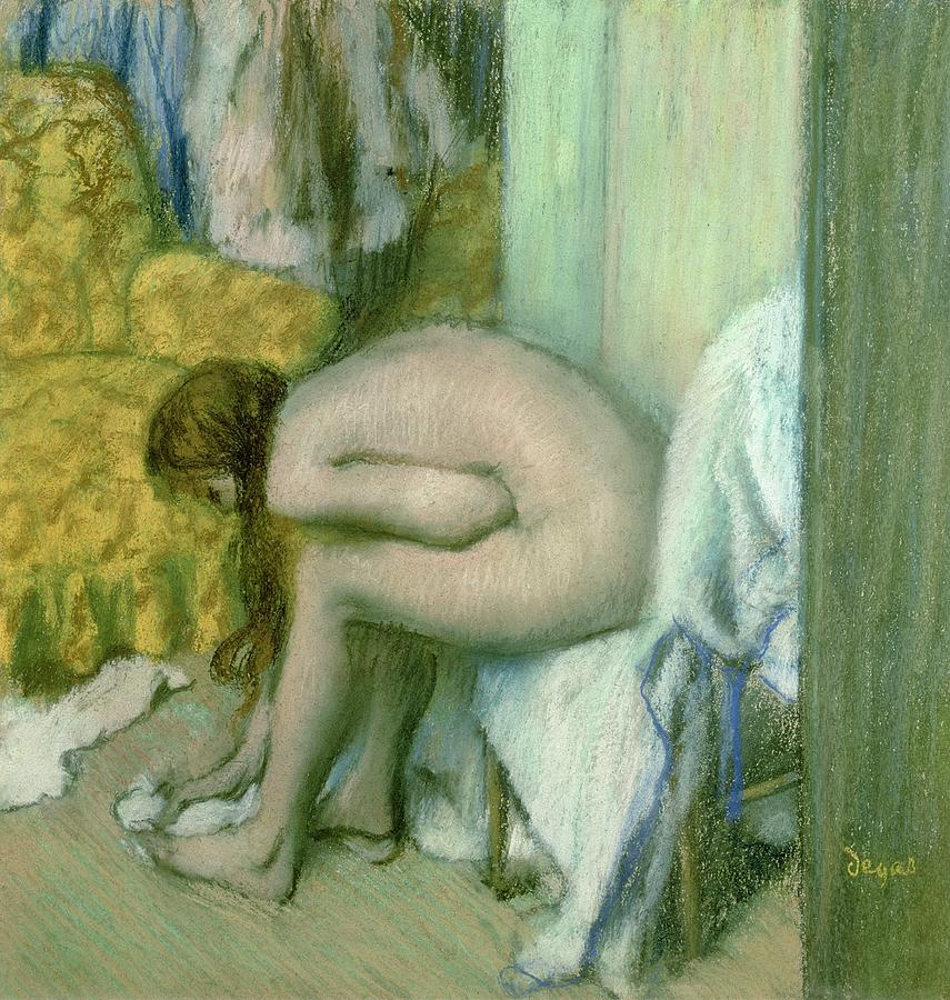 After The Bath Pastel  - After The Bath Fine Art Print