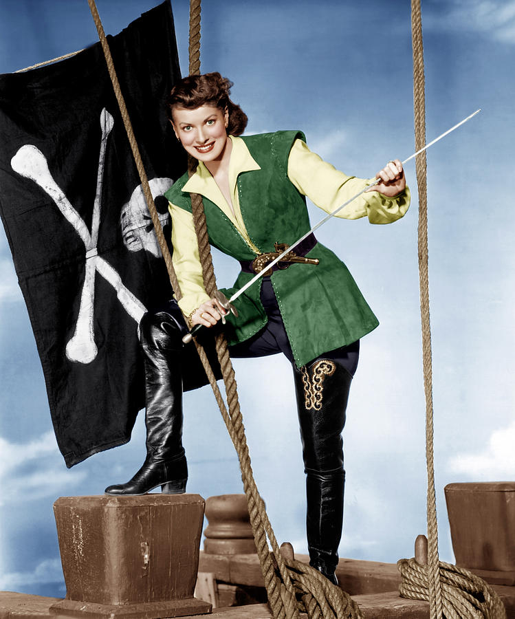Against All Flags, Maureen Ohara, 1952 Photograph  - Against All Flags, Maureen Ohara, 1952 Fine Art Print