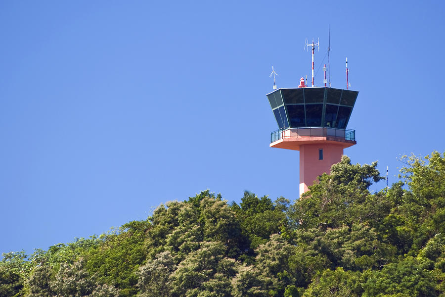 Airport Control Tower. Photograph  - Airport Control Tower. Fine Art Print