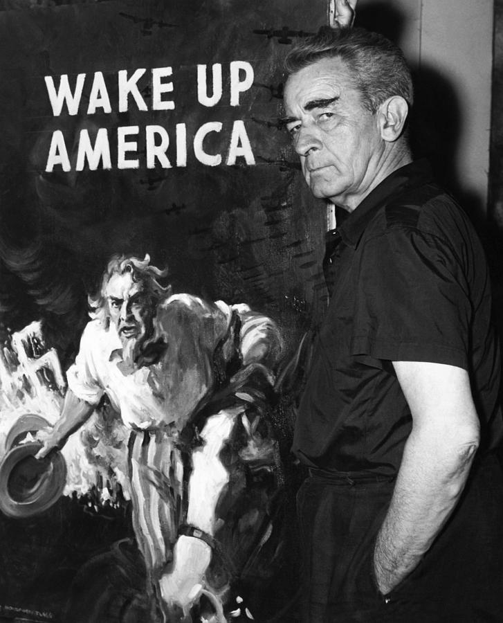 Art Photograph - American Artist And Cartoonist James by Everett