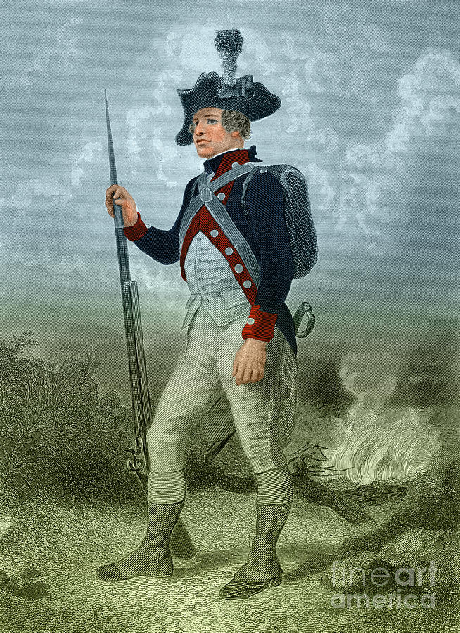 American Continental Soldier Photograph