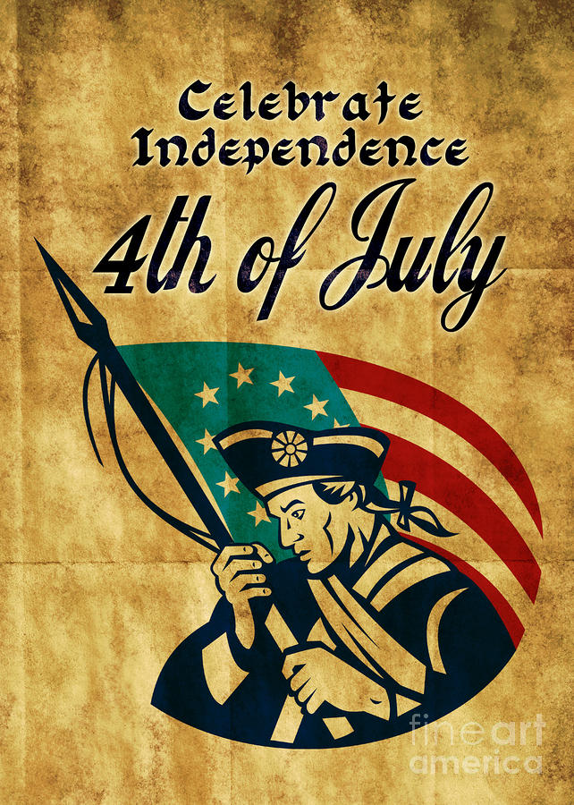 American Revolution Soldier General Digital Art