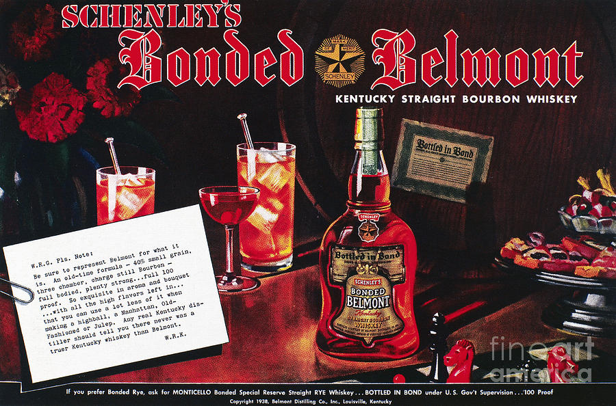 American Whiskey Ad, 1938 Photograph