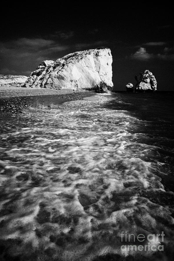 Aphrodites Photograph - Aphrodites Rock Petra Tou Romiou Republic Of Cyprus Europe by Joe Fox