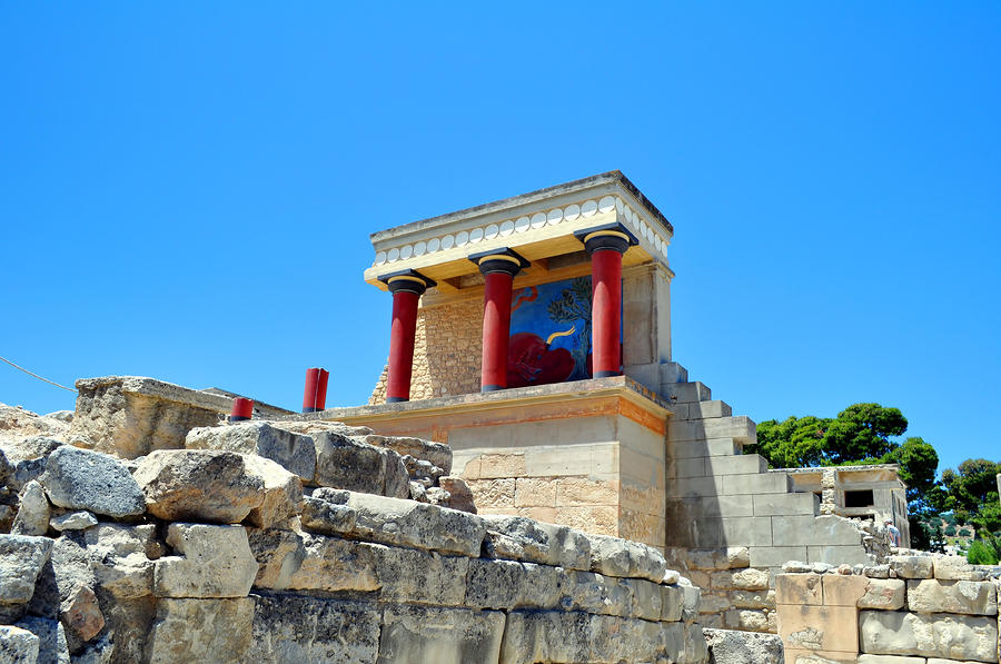 Archaeological Site Of Knossos. Minoan Palace. Crete ...