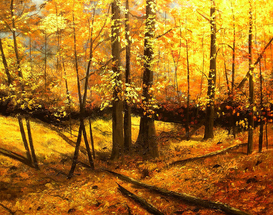 Autumns Hidden Sanctuary II Painting  - Autumns Hidden Sanctuary II Fine Art Print