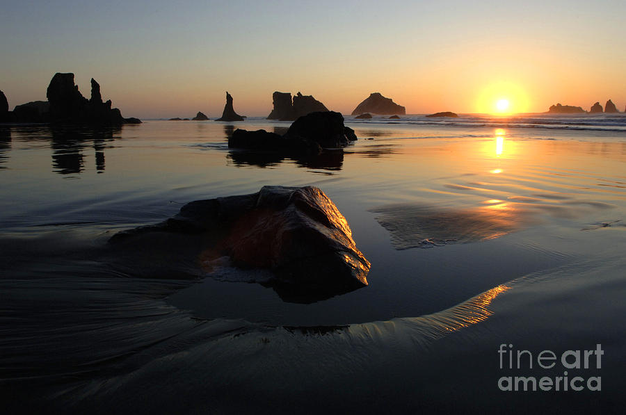 Bandon Beach Sunset Photograph  - Bandon Beach Sunset Fine Art Print