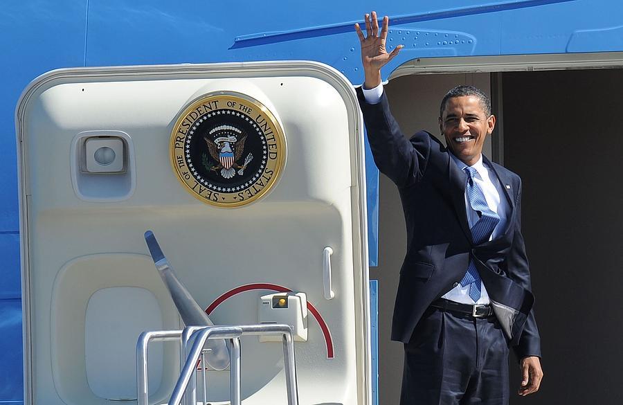 Barack Obama At A Public Appearance Photograph