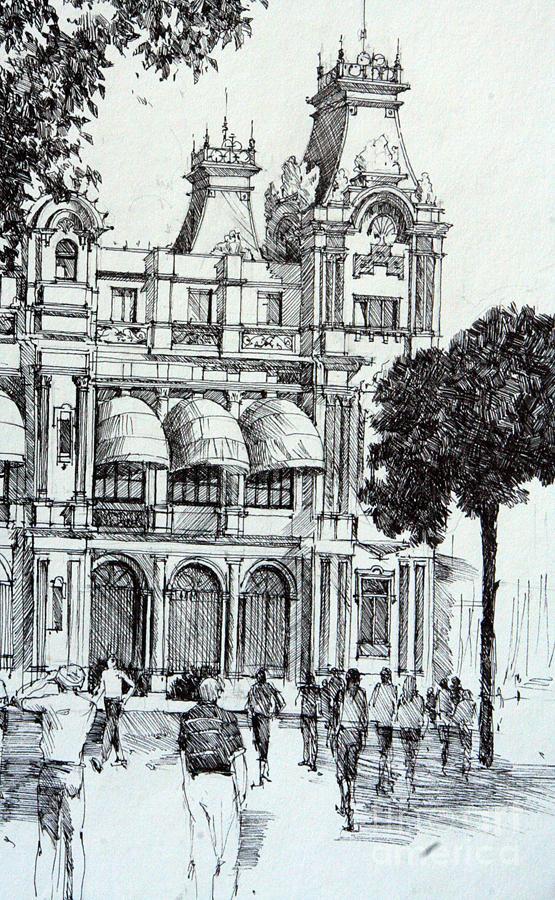 Barcelona Drawing - Barcelona by Natalia Eremeyeva Duarte