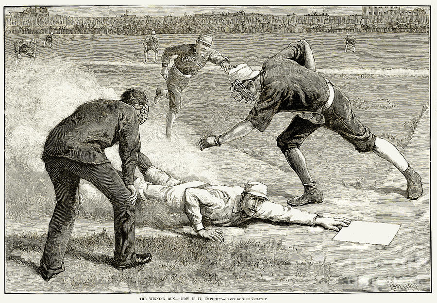 Baseball Game, 1885 Photograph  - Baseball Game, 1885 Fine Art Print