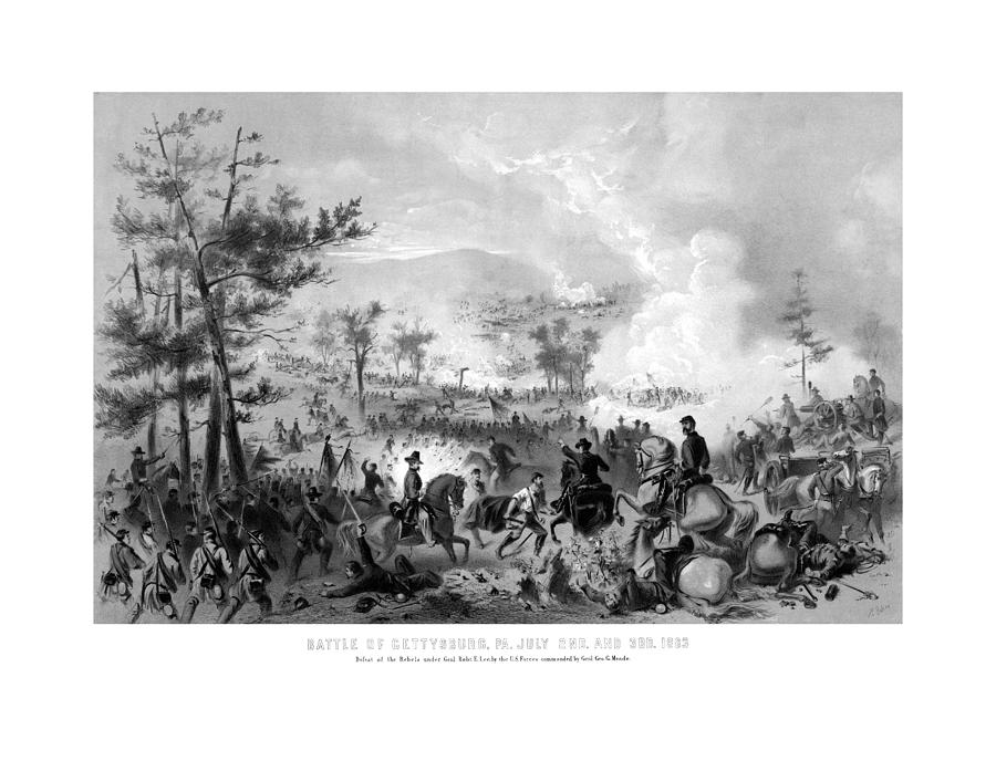 Battle Of Gettysburg Drawing