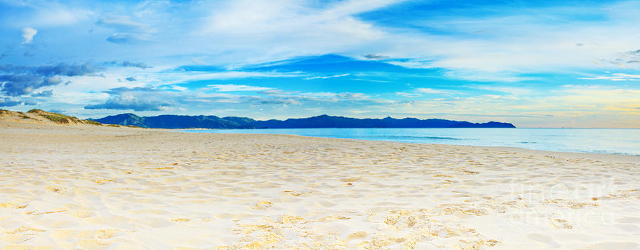 Beach Panorama Photograph  - Beach Panorama Fine Art Print