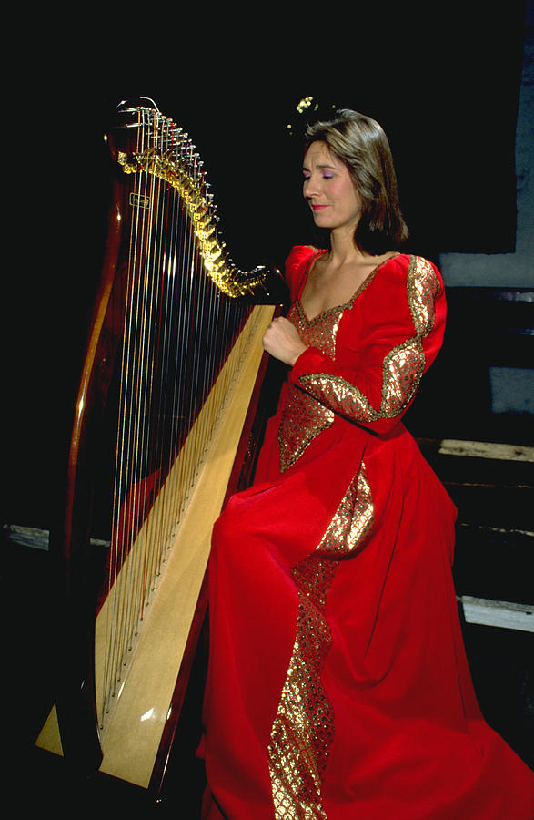 Beautiful Harp Player Photograph
