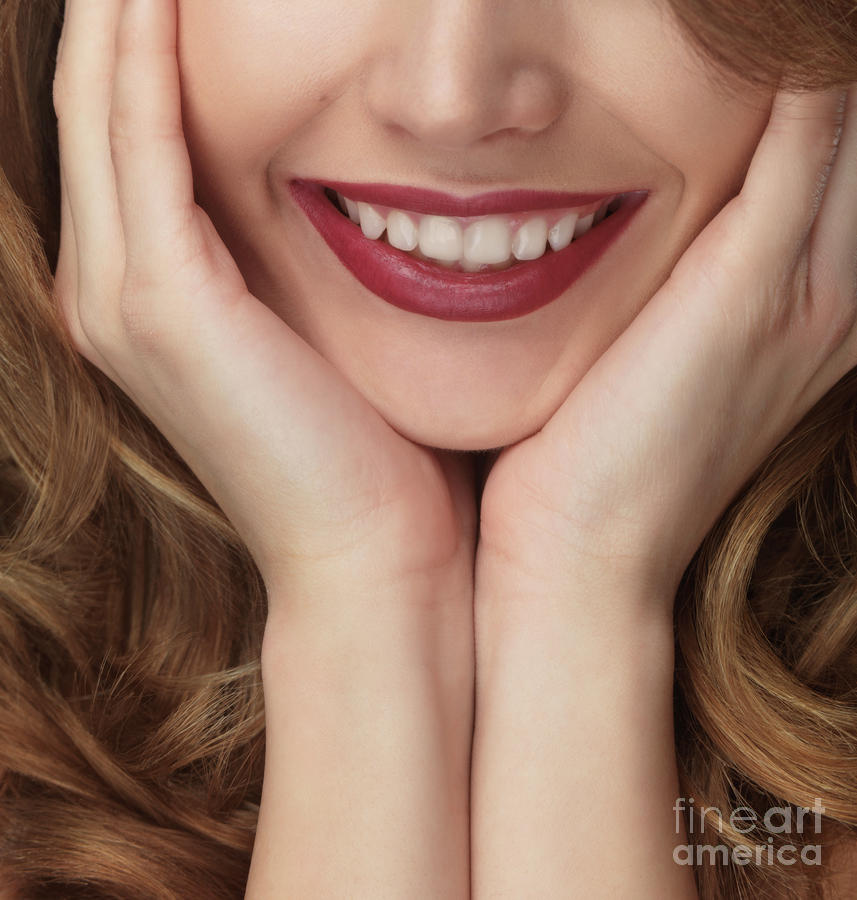 Beautiful Young Smiling Woman Photograph  - Beautiful Young Smiling Woman Fine Art Print