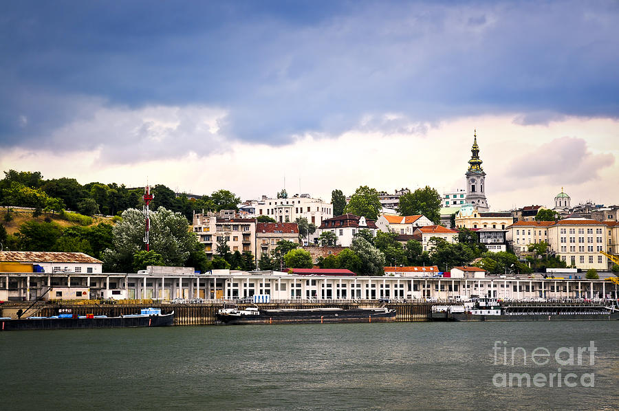 Belgrade Cityscape On Danube Photograph