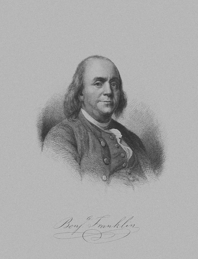 Benjamin Franklin Drawing  - Benjamin Franklin Fine Art Print