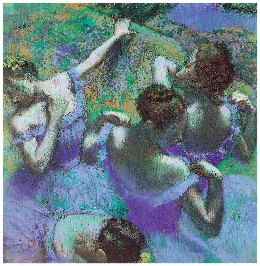 Blue Dancers Pastel