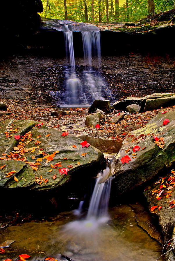 Waterfall Photograph - Blue Hen Falls by Frozen in Time Fine Art Photography