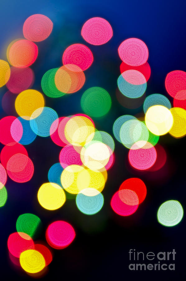 Blurred Christmas Lights Photograph  - Blurred Christmas Lights Fine Art Print