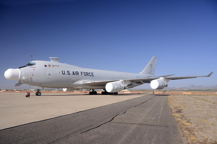 Boeing Yal-1a Airborne Laser Testbed Davis-monthan Afb April 15 2012 Photograph  - Boeing Yal-1a Airborne Laser Testbed Davis-monthan Afb April 15 2012 Fine Art Print