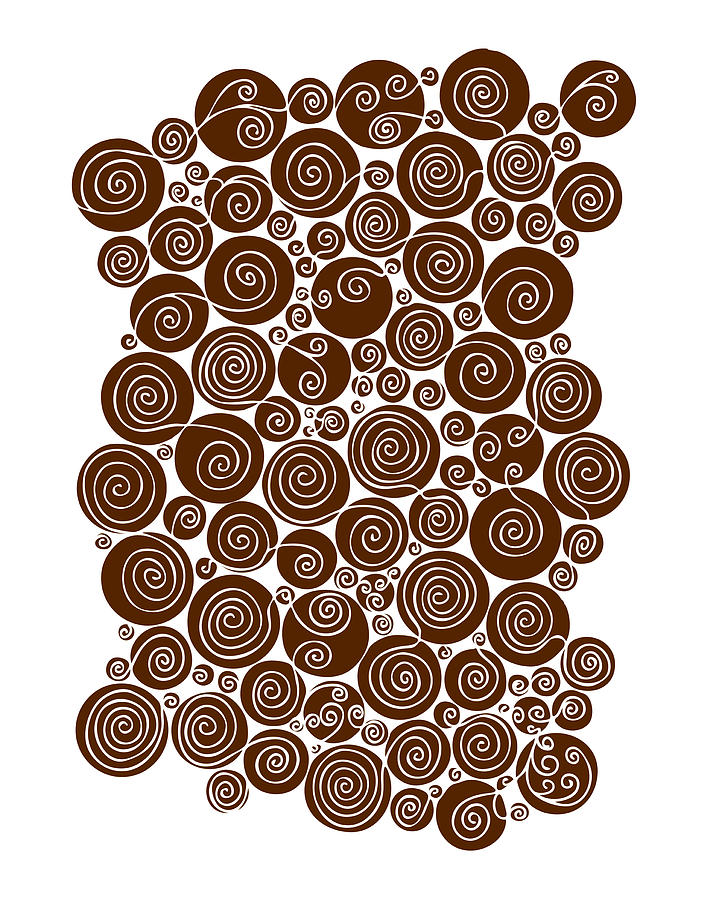 Brown Abstract Drawing  - Brown Abstract Fine Art Print
