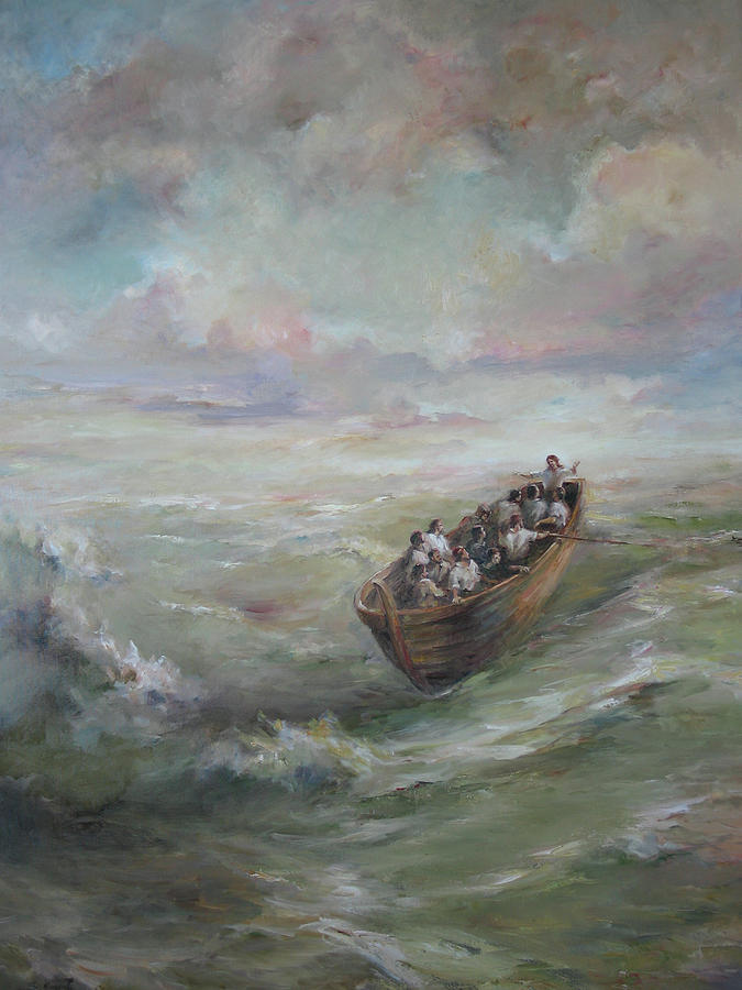 Calming The Storm Painting  - Calming The Storm Fine Art Print