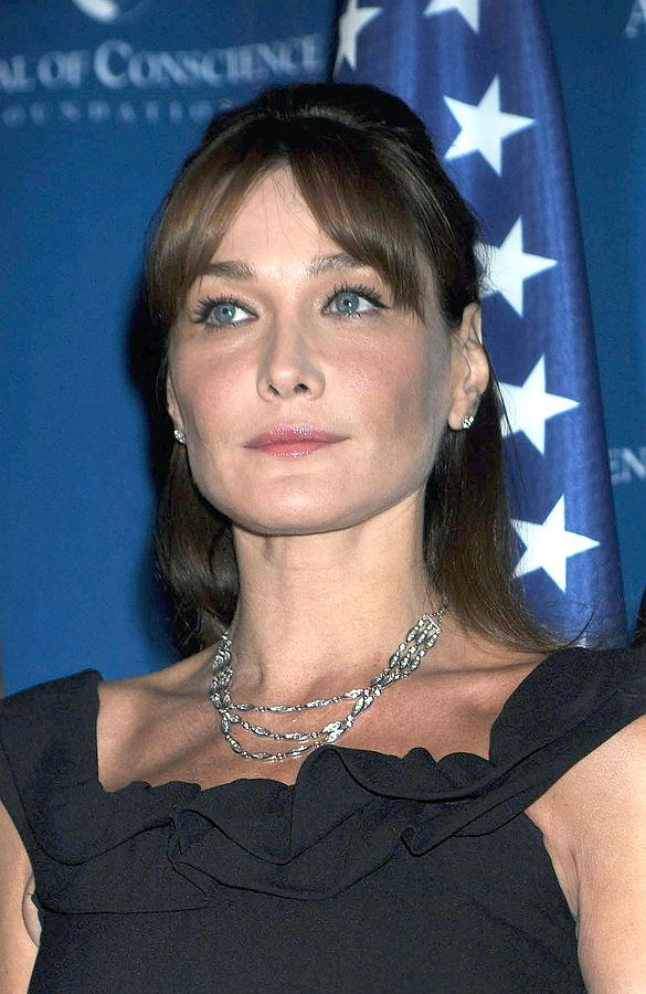 2008 World Statesman Award Ceremony Hosted By Appeal Of Conscien Photograph - Carla Bruni Sarkozy In Attendance by Everett
