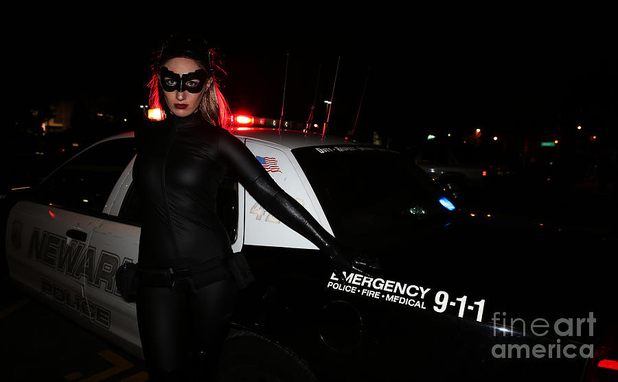 Catwoman Batman The Dark Knight Rises Newark New Jersey Premiere Event  Photograph  - Catwoman Batman The Dark Knight Rises Newark New Jersey Premiere Event  Fine Art Print