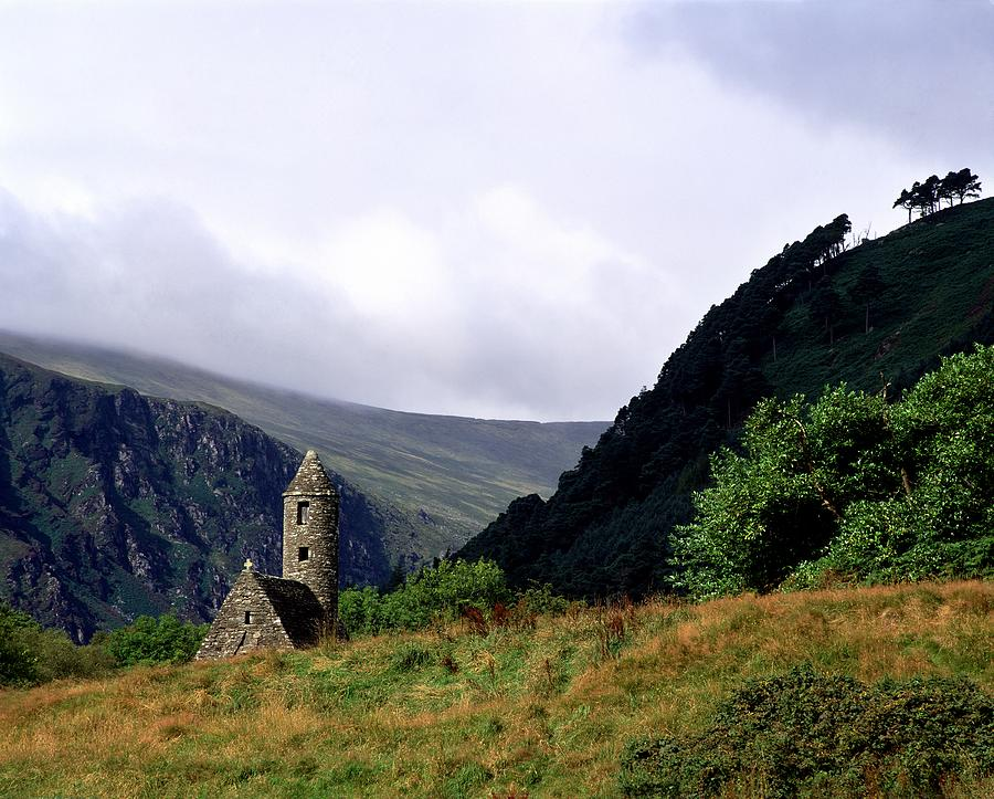 Copy Space Photograph - Chapel Of Saint Kevin At Glendalough by The Irish Image Collection