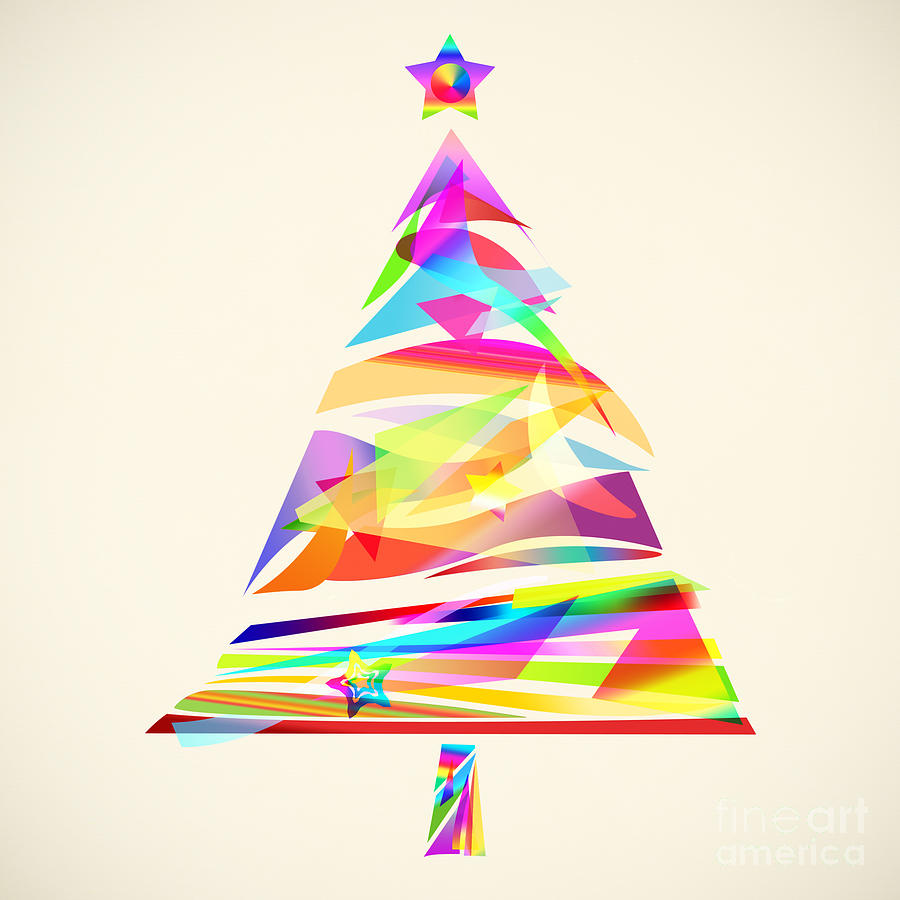 Christmas Tree Design Painting By Setsiri Silapasuwanchai