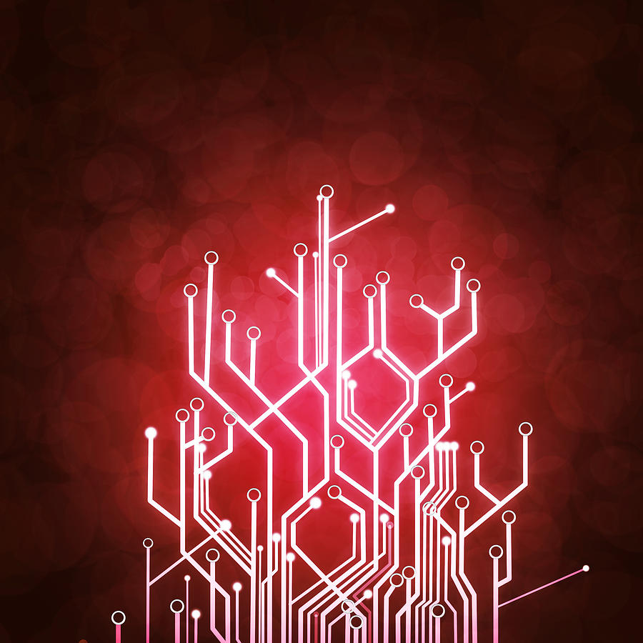Circuit Board Photograph  - Circuit Board Fine Art Print