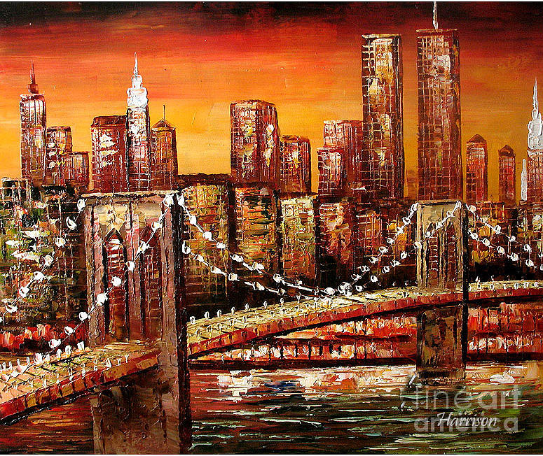 Cityscape Oil Painting By Lian