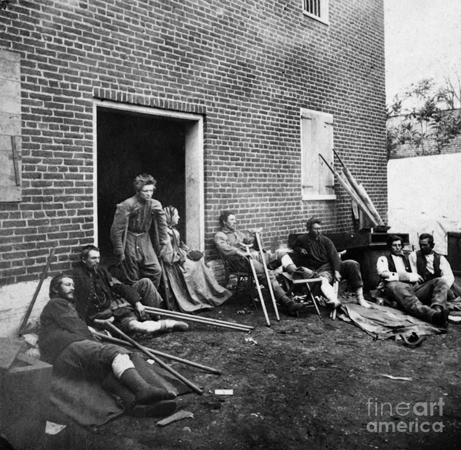 Civil War: Wounded, 1864 Photograph  - Civil War: Wounded, 1864 Fine Art Print
