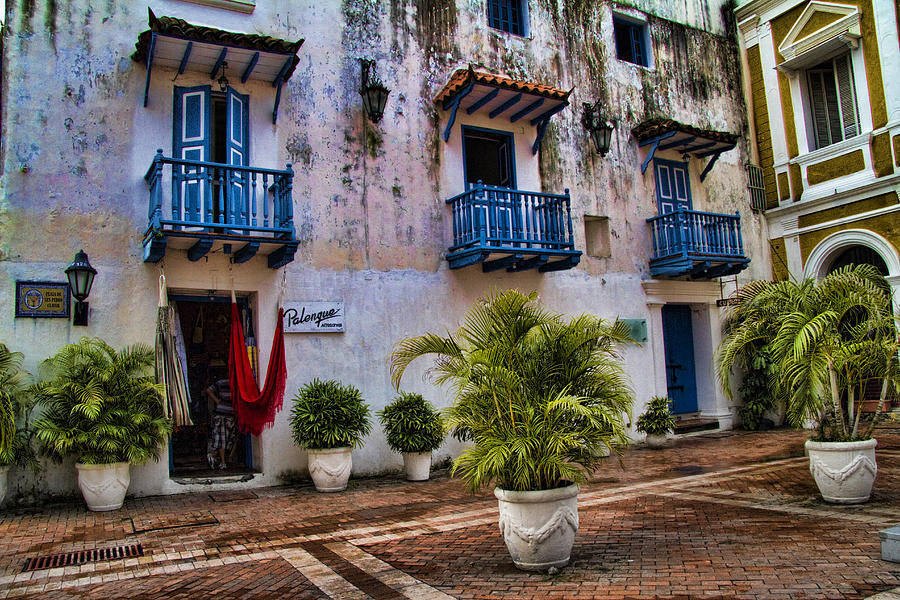 Colonial Buildings In Old Cartagena Colombia Photograph