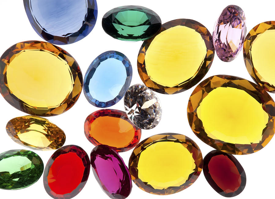 Colorful Gems Photograph  - Colorful Gems Fine Art Print