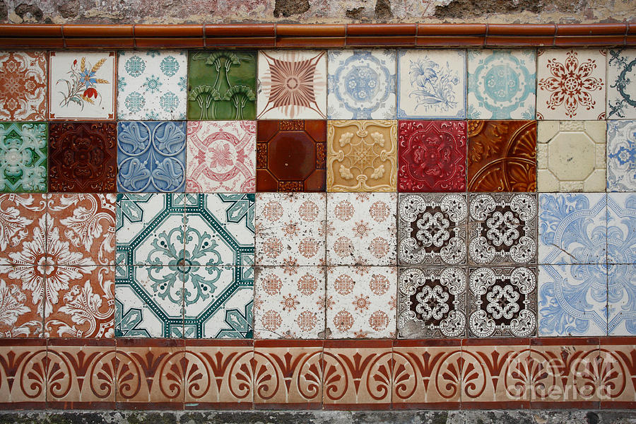 Colorful Glazed Tiles Photograph