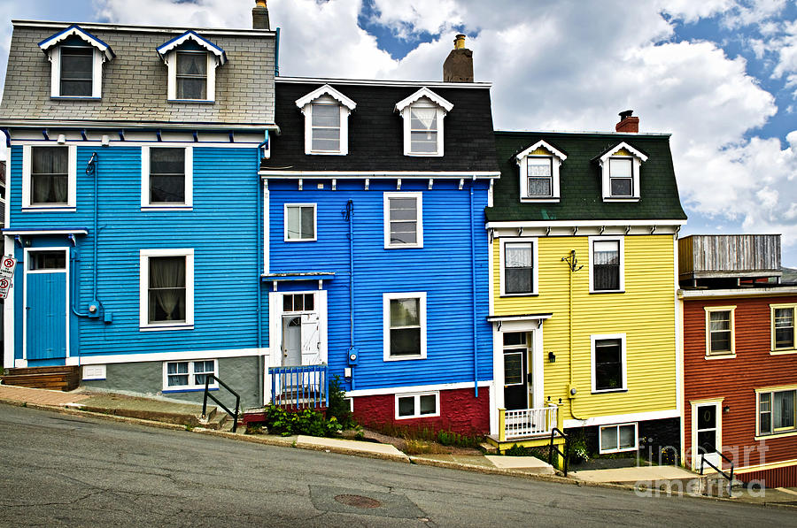 Colorful houses in st john 39 s newfoundland by elena elisseeva for Newfoundland houses