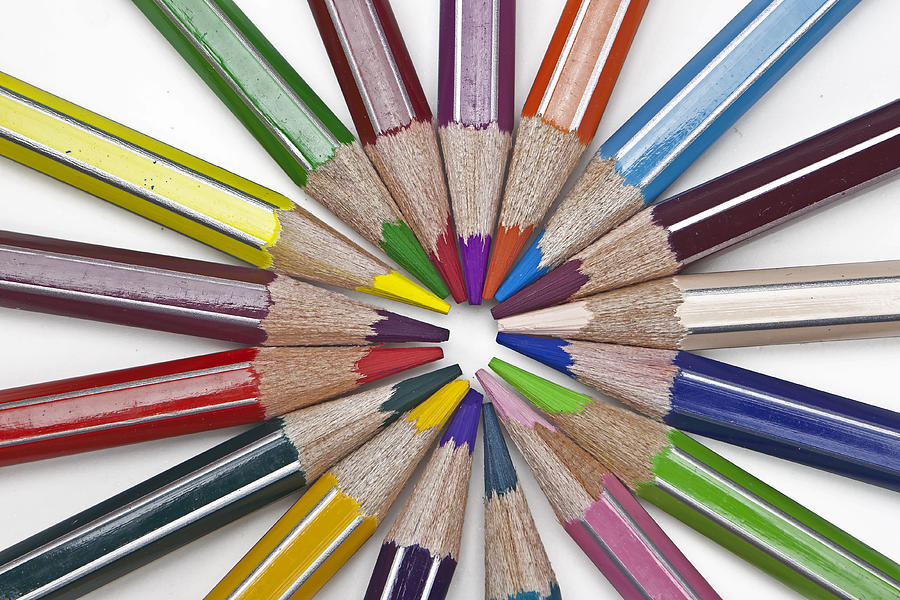 Colored Pencil Photograph - Coloured Pencil by Joana Kruse