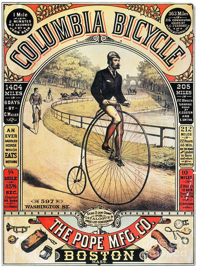 Columbia Bicycles Poster Photograph